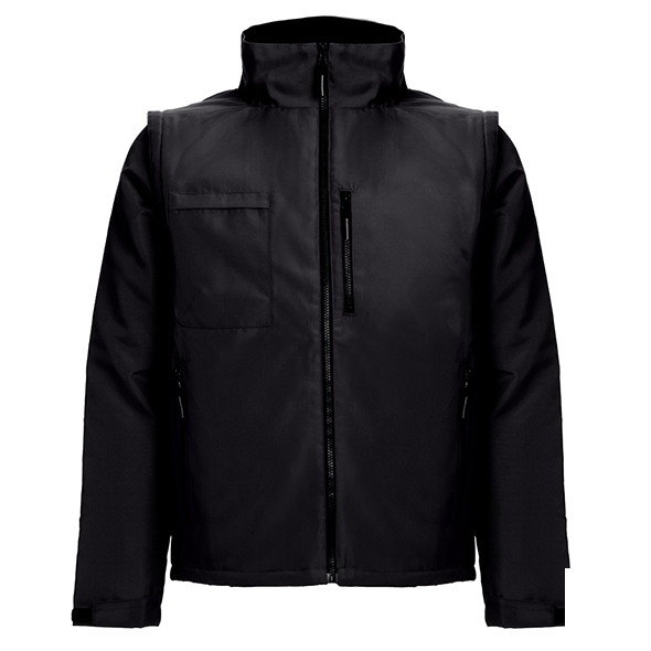 Workwear jacket with removable sleeves THC ASTANA