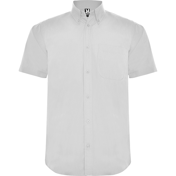 Short sleeve shirt and classical starched collar with 1 button AIFOS