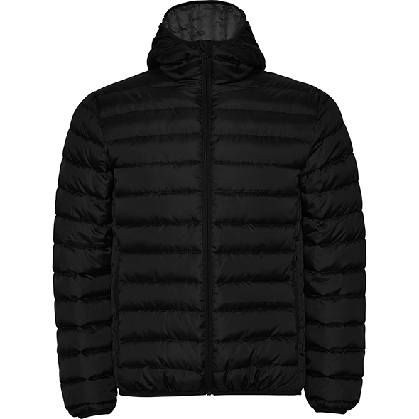 Quilted men's coat with feather-feel filling and fitted hood NORWAY