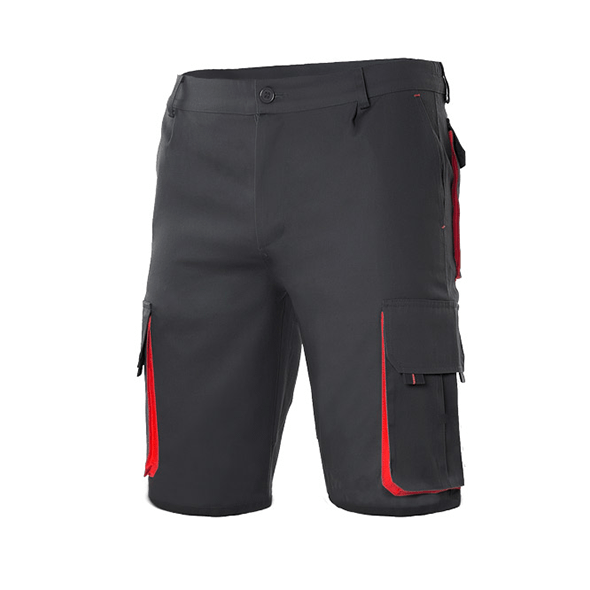 Shorts with Bicolor Pockets