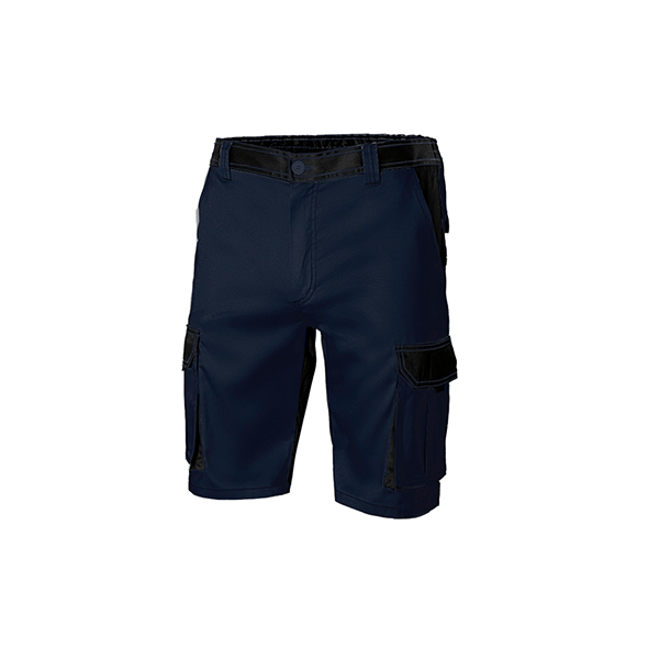 Shorts with Bicolor Pockets and Contrast Seams